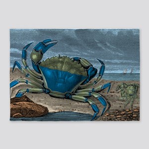 Blue Crabs 5'x7'Area Rug